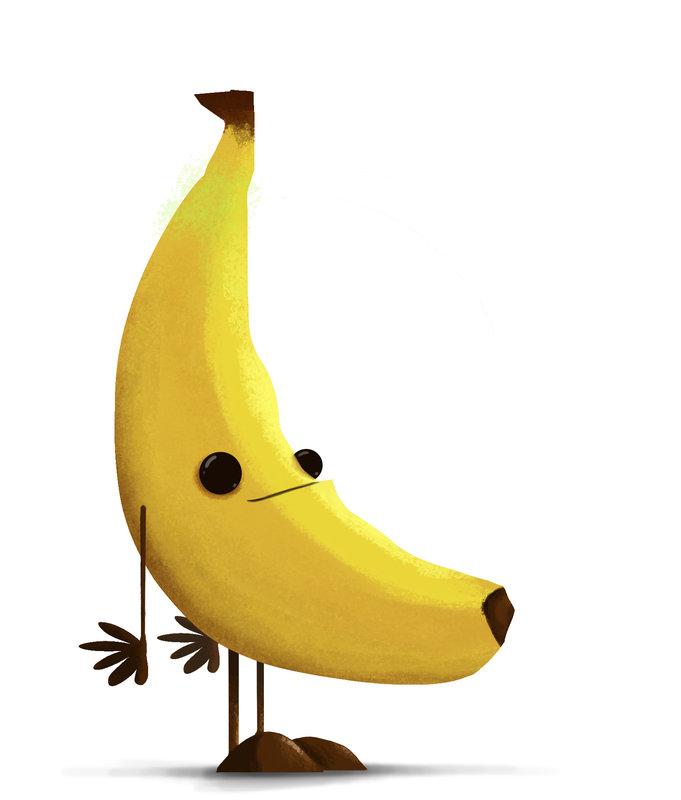 Формат открытки, картинки смешные банан